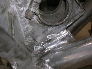The bad welds reworked and ready for new TIG welds