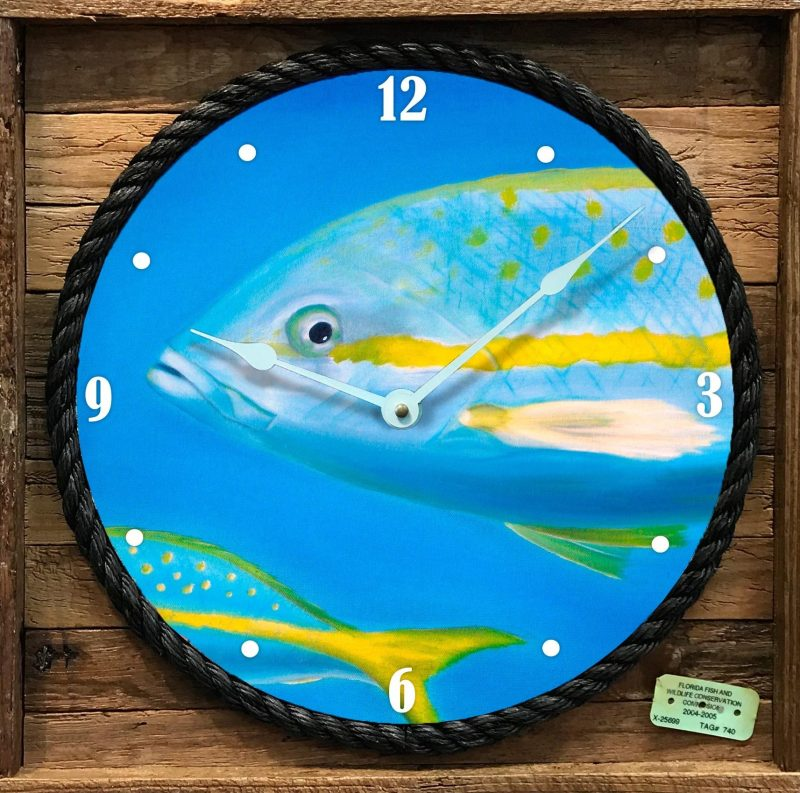 """""""HEADS OR TAILS"""" FRAMED CLOCK"""