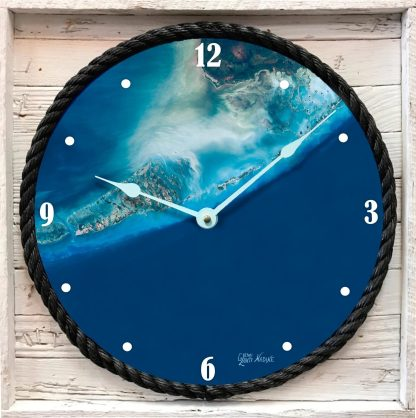 """FLORIDA KEYS SATELLITE VIEW "" FRAMED CLOCK"