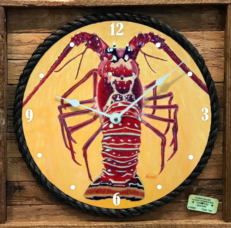 """LOBZILLA"" FRAMED CLOCK"