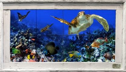 Deep Blue Sea Tile Mural