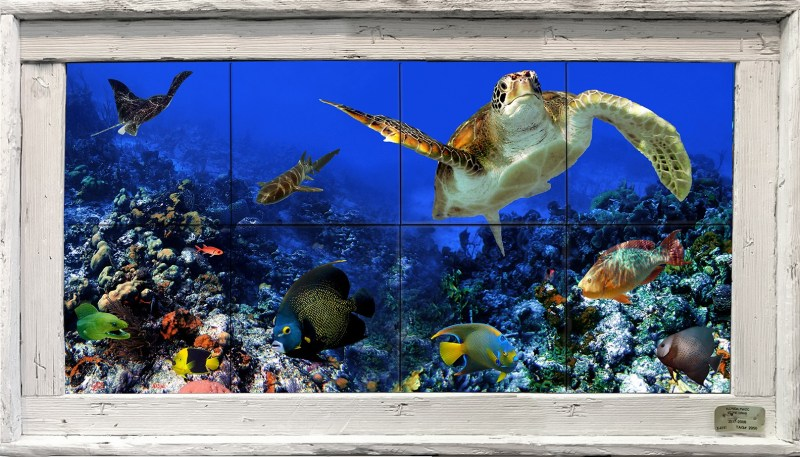 Deep Blue Sea Tile Mural