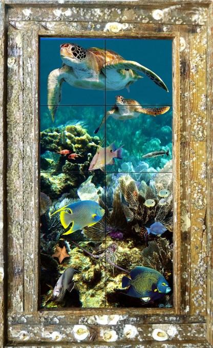 Reef Top Flyers Tile Mural