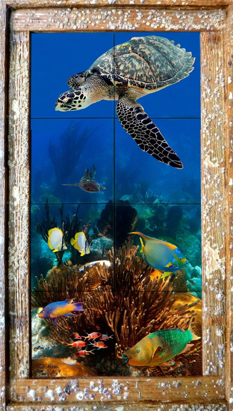Bermuda Reef Tile Mural