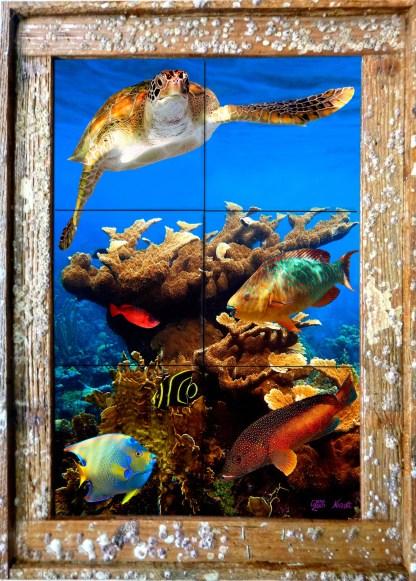 Coral Cluster Tile Mural