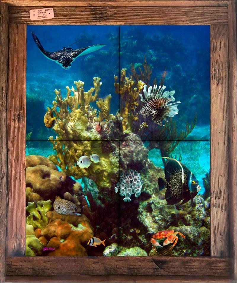 Coral Head Tile Mural