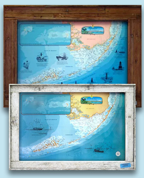 Charts of the Florida Keys Framed or Unframed