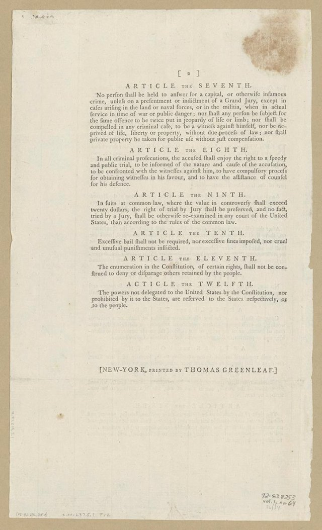 Demand for a Bill of Rights - Creating the United States