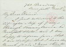 Isachar Zacharie (1827-1900) to Abraham Lincoln
