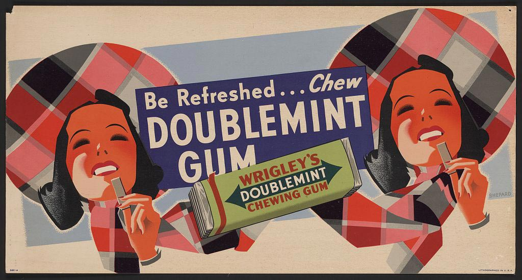 Wrigley's Doublemint Gum:  a Wrigley/Fleer collaboration