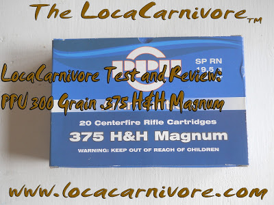 LocaCarnivore Test and Review: PPU 300 Grain .375 H&H Magnum