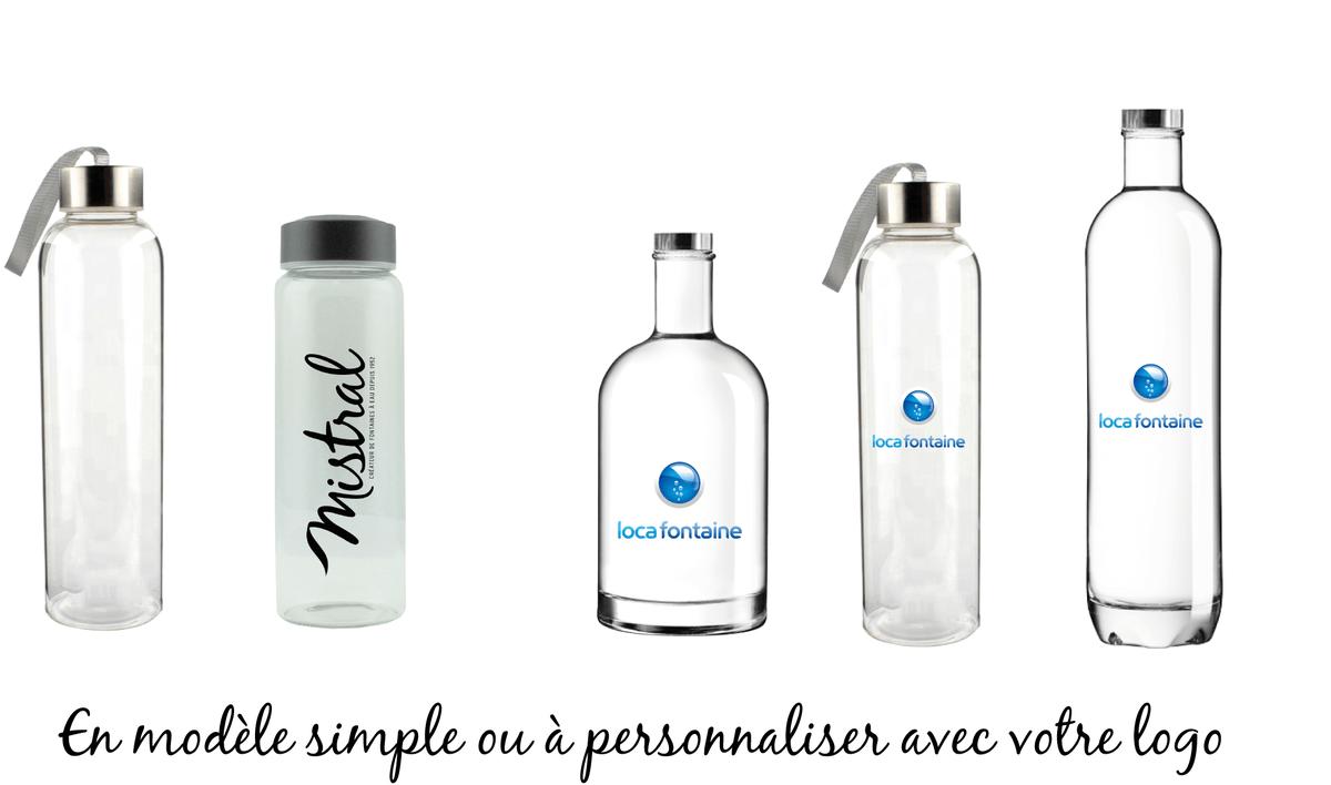 bouteille en verre personnalisable pour