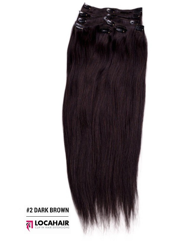 100 Human Remy Clip In Hair Extensions 22 Inch 220g