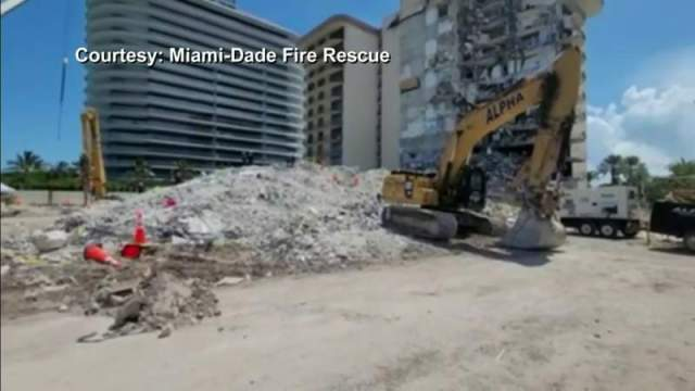 Demolition experts prepare to bring down Champlain Towers South ruins