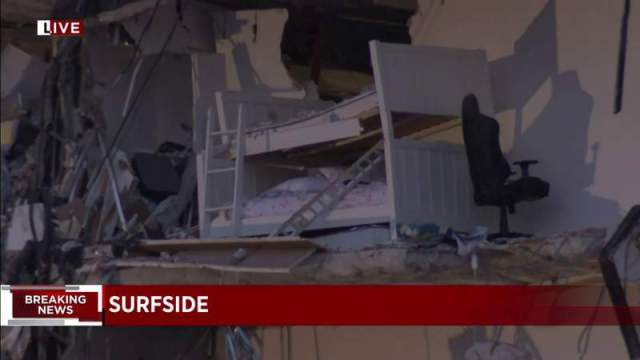 At least 1 dead following partial building collapse in Surfside