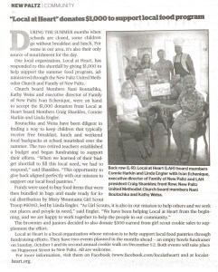 New Paltz Times article