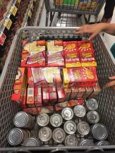 Groceries for gift bags with help from ShopRite