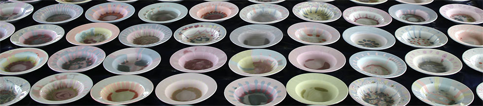 bowls ready for glazing