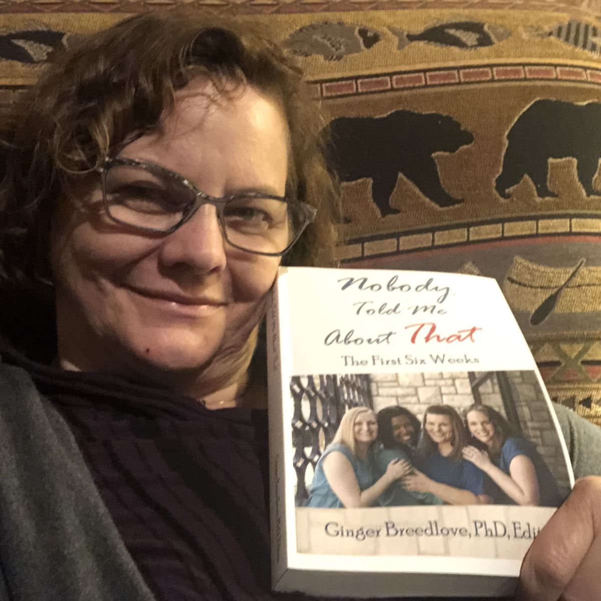 Midwife Michelle Doyle with her new book, Nobody Told Me About That! The First Six Weeks