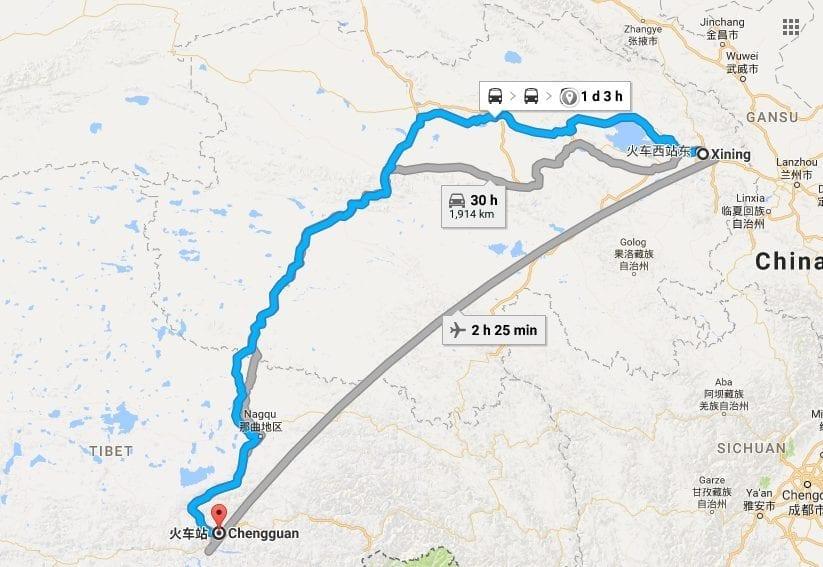 Xi'ning to Lhasa Train