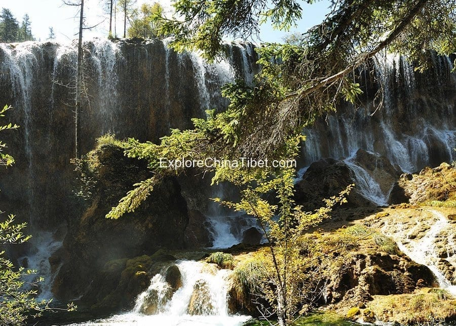 2 Days Jiuzhaigou Private Tour-Pearl Shoal Waterfalls 1