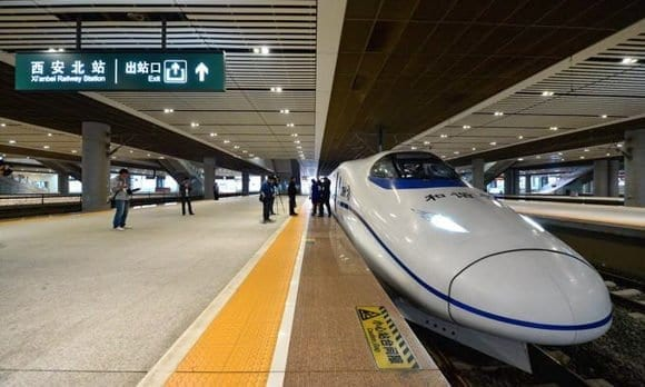 China Trains Travel Route Pingyao-Xi'an High Speed Train Xian North Railway Station
