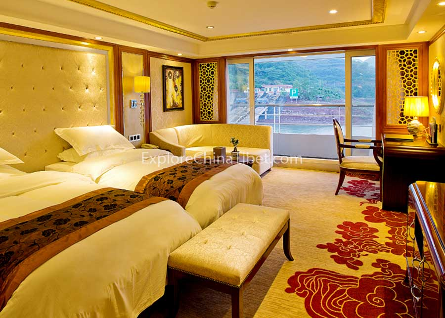 Chongqing to Yichang President No.7 Cruise Executive Suite with Balcony