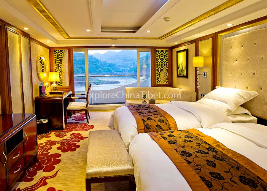 Chongqing to Yichang President No.7 Cruise Deluxe Cabin With Balcony