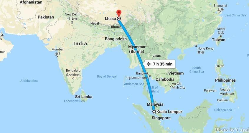 Cheap Flights Kuala Lumpur Malaysia To Lhasa Tibet Domestic Airlines