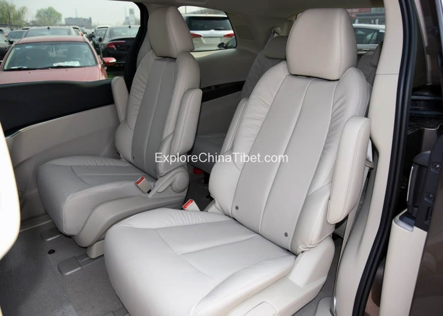 Tibet Car Rental Buick Van Rental- Rear Seats 2