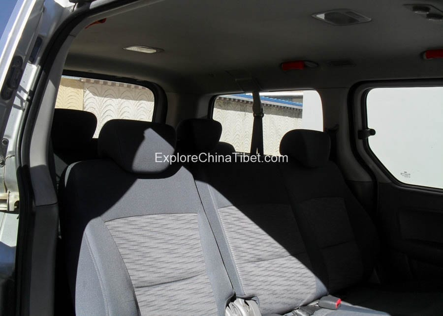 Tibet Car Rental Korea Hyundai Van-Rear Seats 1