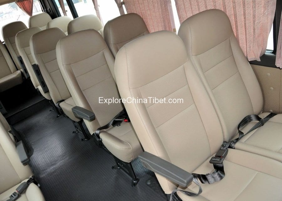 Tibet Car Rental Korean Hyundai Mini Bus-Rear Seats 1