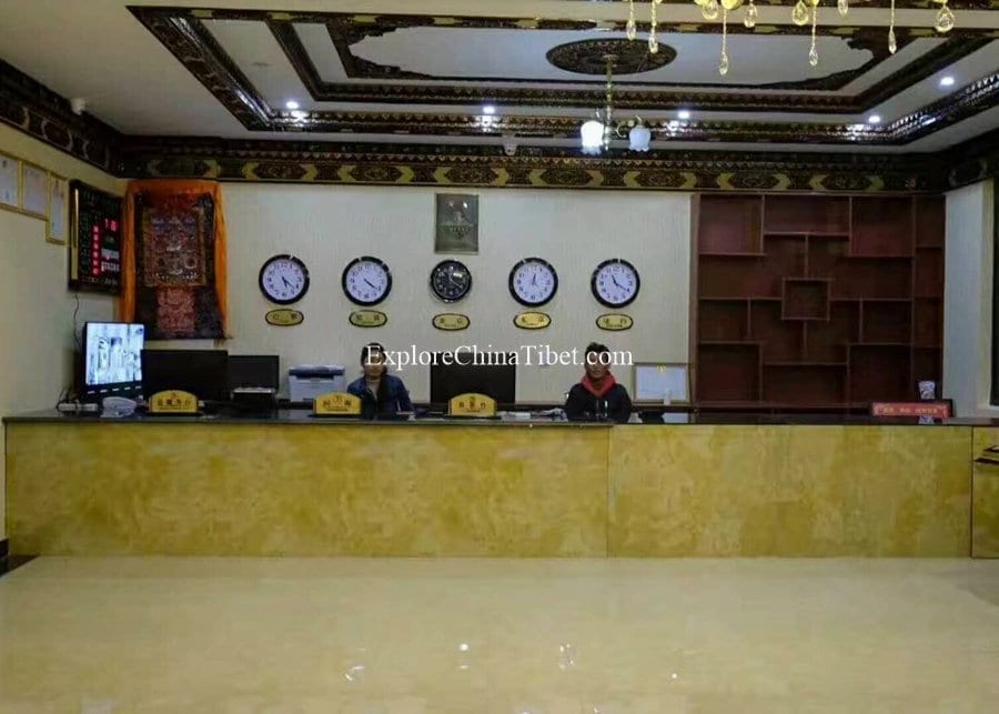 Tibet Tingri Roof Of The World Grand Hotel Hotel front desk 5