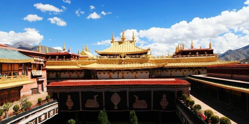 Tibet Lhasa Jokhang temple attraction
