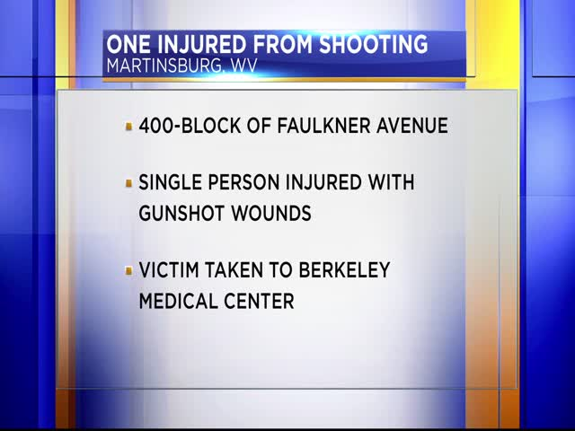 One person injured from Martinsburg shooting_48500582-159532