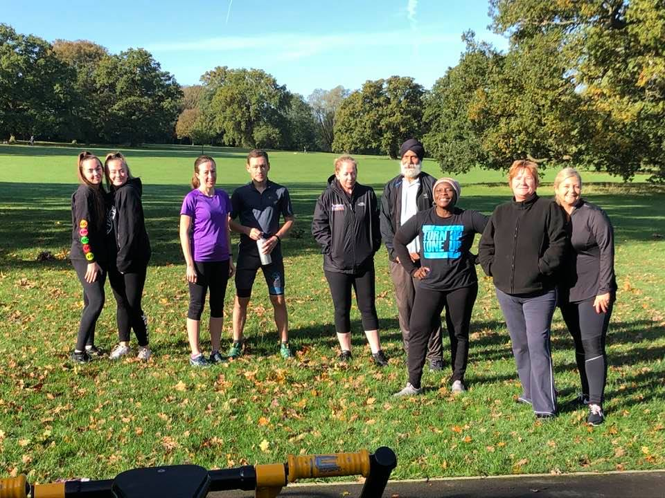 Group fitness class in Hillingdon area of London