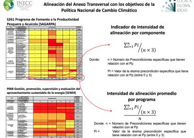 Insumos para la Evaluación del Anexo Transversal del Presupuesto de Egresos de la Federación en materia de cambio climático.