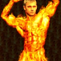 Rick Schroeder as the Human Torch