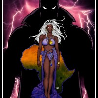 Storm/Black Panther [Art: Frank Cho)(Color/Effects: LocalHero)