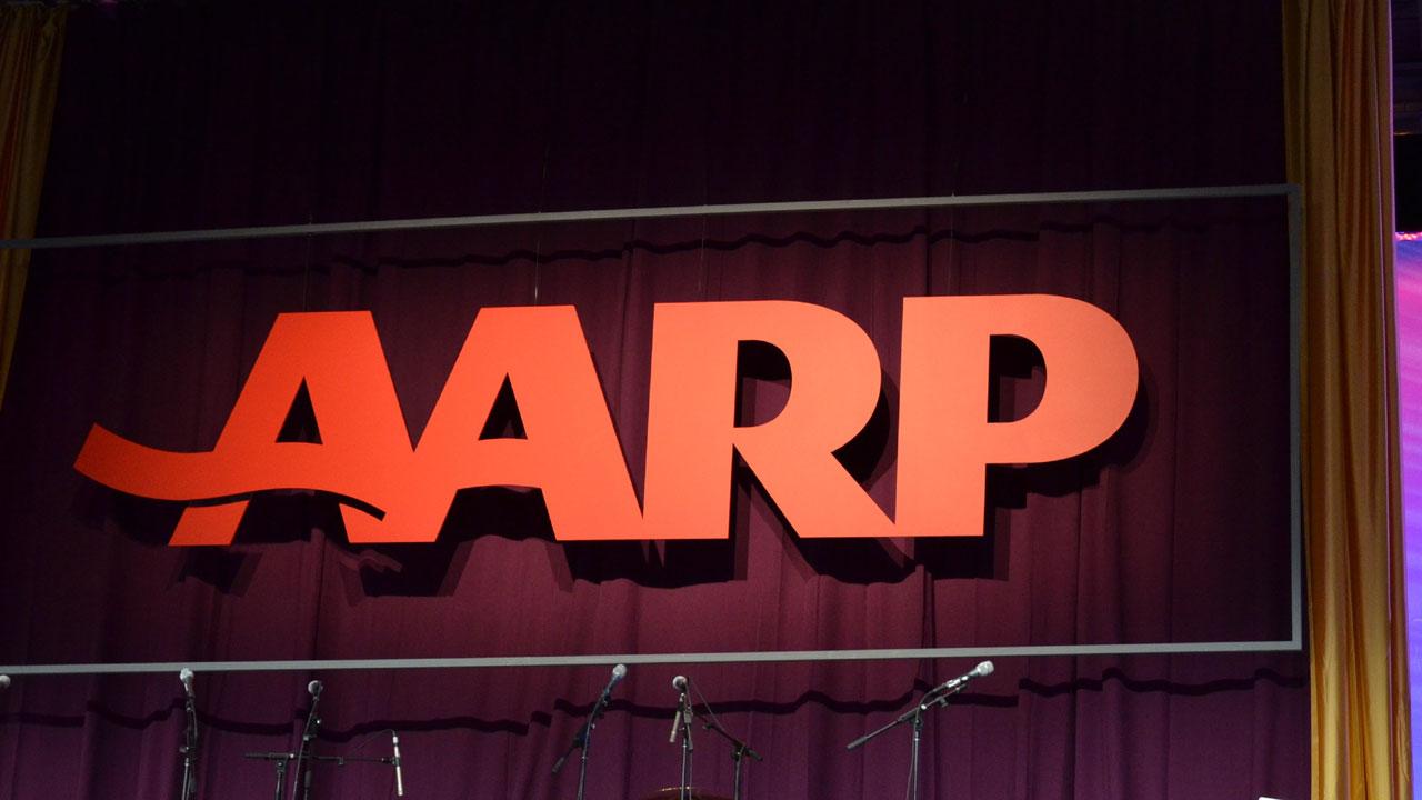 AARP logo on stage88895165-159532