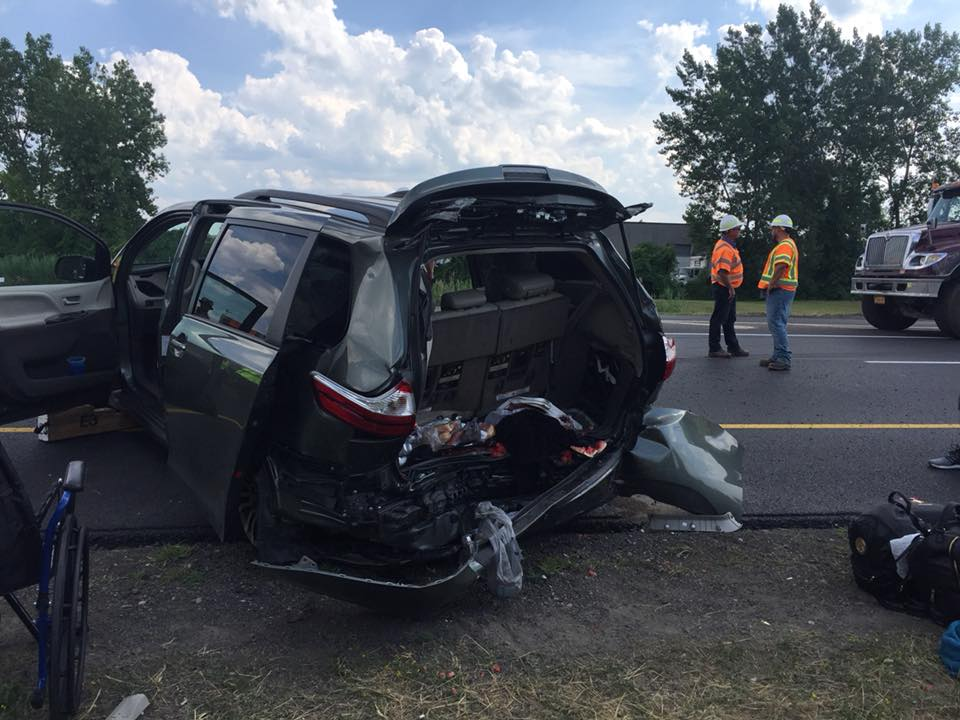 Several injured following multiple car crash at DeWitt