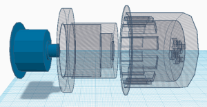 3D model of the Magnetic Coupling Prototype