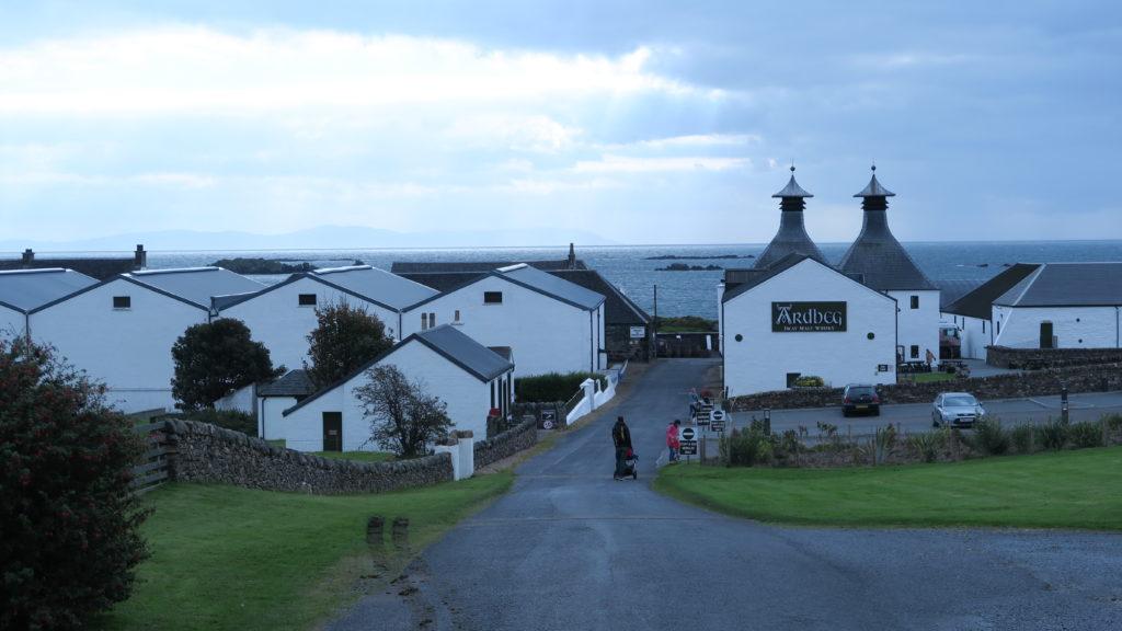 The entrance to the Ardbeg Distillery