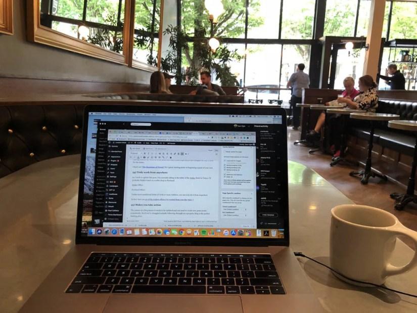 Barista Coffe in NW Portland, Oregon.