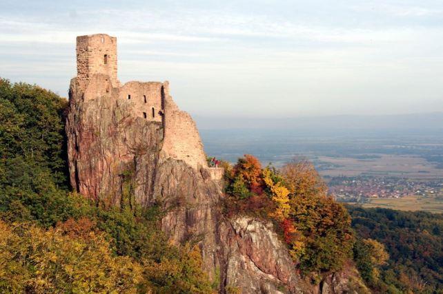 Il castello di Ribauvillé in Alsazia