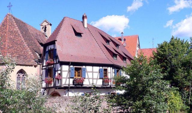 il villaggio di Kaysersberg in Alsazia