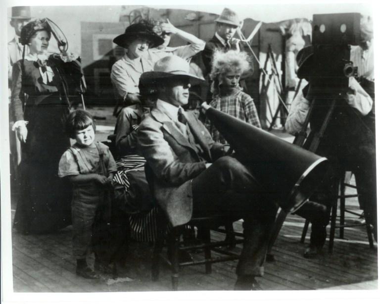 Griffith sul set