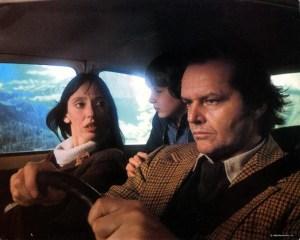 Jack Nicholson, Shelley Duvall, e Danny Lloyd in The Shining