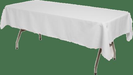 nappe blanche rectangulaire 6 personnes 2 50 m x 1 60 m