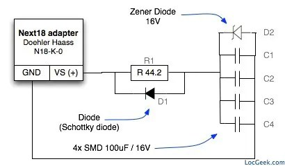 Buffer circuit with SMD capacitors